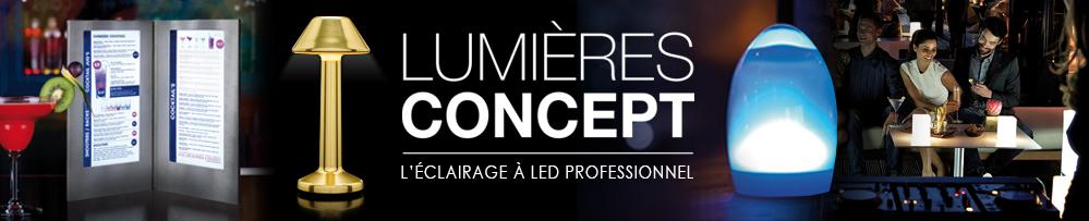 Lampes de table sans fil à LED rechargeable pour les professionnels de l'hôtellerie et de la restauration